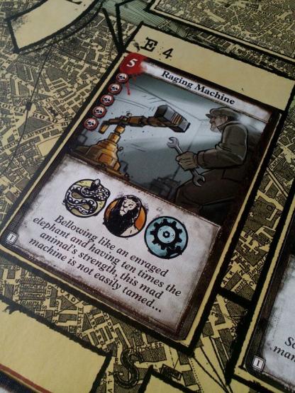 Afbeelding van een speelkaart van het bordspel London Dread