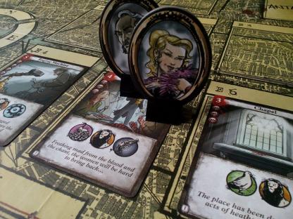 Afbeelding van een spelimpressie van het bordspel London Dread