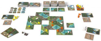 Afbeelding van de spelattributen van het bordspel Okanagan