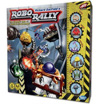 Productfoto van de speldoos van het bordspel Robo Rally