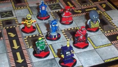 Afbeelding van een spelimpressie van het bordspel Robo Rally