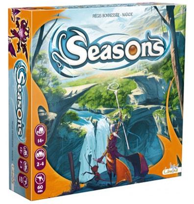 Productfoto van de speldoos van het bordspel Seasons