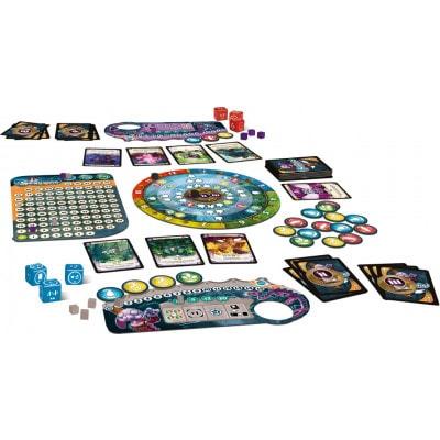Afbeelding van het speelbord en attributen van het bordspel Seasons