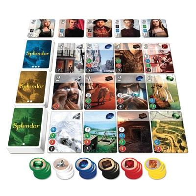 Afbeelding van speelkaarten van het bordspel Splendor