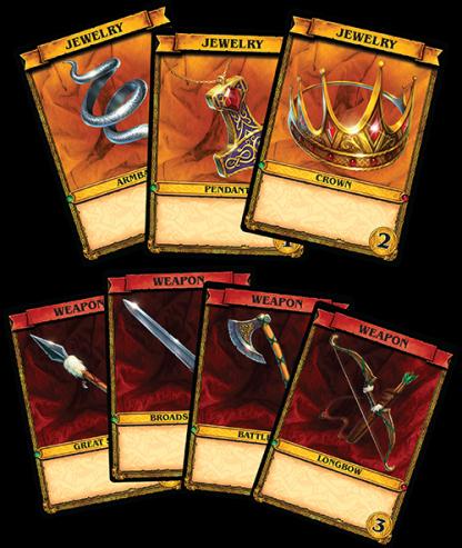 Afbeelding van speelkaarten van het bordspel Spoils of War