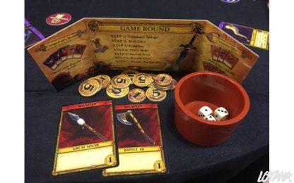 Afbeelding van een spelimpressie van het bordspel Spoils of War