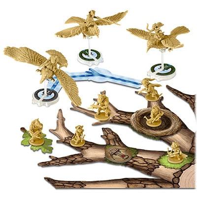 Afbeelding van een spelimpressie van het bordspel Tail Feathers