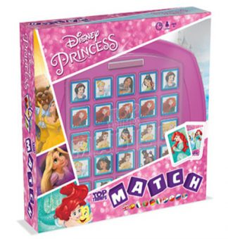 Productfoto van de speldoos van het bordspel Top Trumps Disney Match Princess