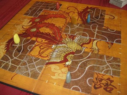 Afbeelding van het speelbord van het bordspel Tsuro