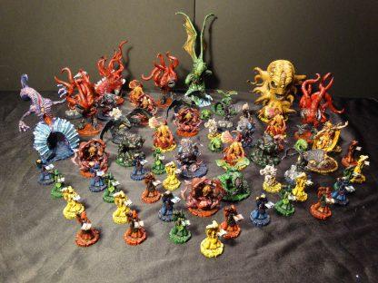 Impressie van de geverfde figuren van Cthulhu Wars