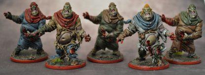 Impressie van de geverfde zombies van Zombicide Black Plague