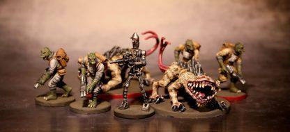 Impressie van geverfde figuren van Star Wars Imperial Assault Jabba's Realm Campaign