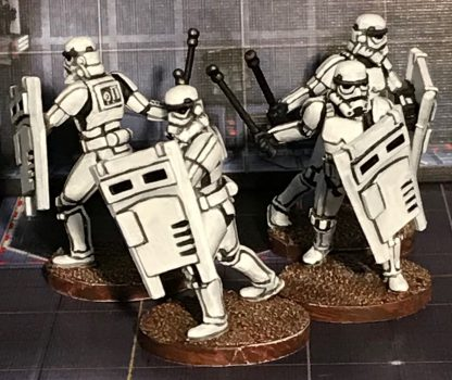 Impressie van geverfde stormtroopers van Star Wars Imperial Assault Heart of the Empire