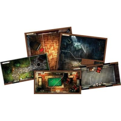 Onderdelen van het speelbord van Mansions of Madness Second Edition