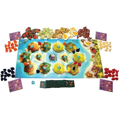 Speelbord en pionnen Catan Junior