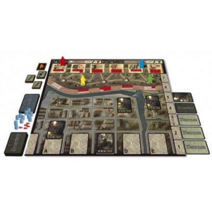 Speelbord en spelonderdelen van 7 Days of Westerplatte