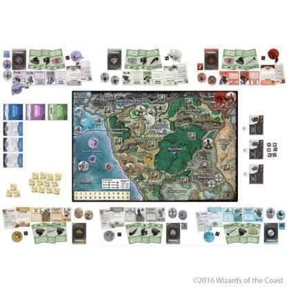 Speelbord en spelonderdelen van Assault of the Giants