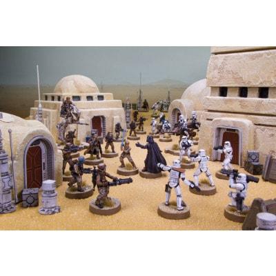 Spelimpressie van geverfde figuren van Star Wars Legion