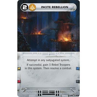 Voorbeeld van een speelkaart van Star Wars Rebellion