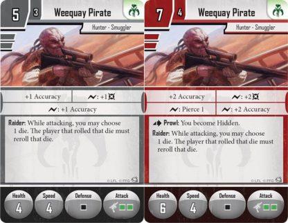 Voorbeeld van speelkaarten van Star Wars Imperial Assault Jabba's Realm Campaign