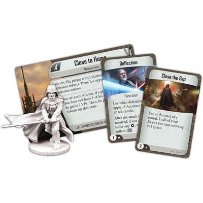 Voorbeelden van Darth Vader en speelkaarten van Star Wars Imperial Assault