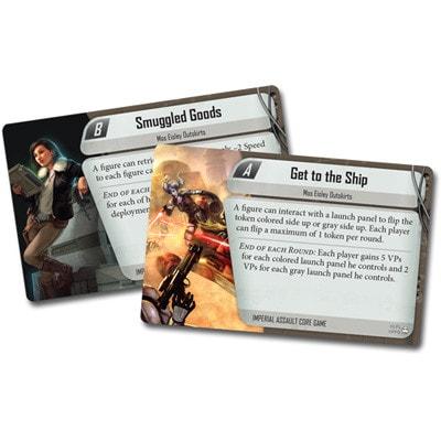 Voorbeelden van de speelkaarten van Star Wars Imperial Assault