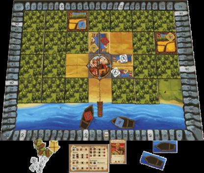 Afbeelding van het speelbord van de Poorters van Nieuwstad