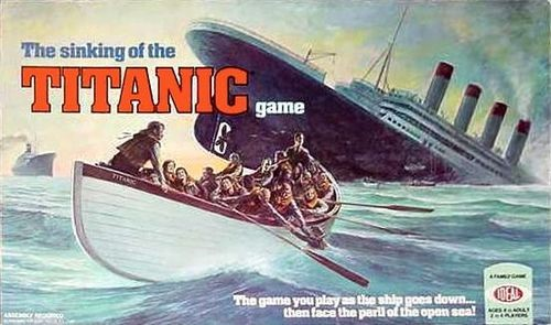 The Sinking of the Titanicf the Titanic bordspel
