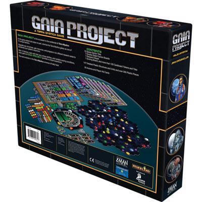 Achterkant van de doos van het bordspel Gaia Project (Engels)