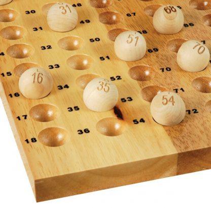 Impressie van het bingobord van de Lotto en Bingo Molen
