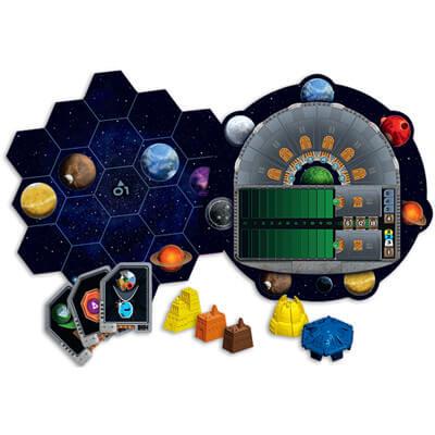 Spelonderdelen van het bordspel Gaia Project (Engels)