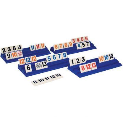 Spelstenen en Houders van het bordspel Rummikub XXL