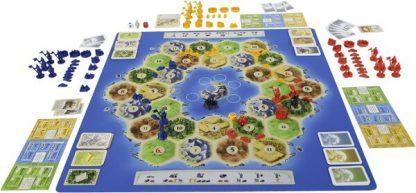 Afbeelding van het speelbord en de onderdelen van Steden en Ridders