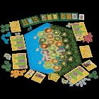 Afbeelding van de spelonderdelen van Catan: De Opkomst van de Inca's