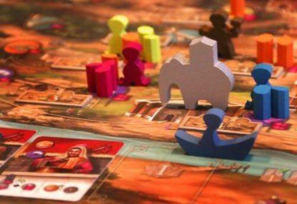 Afbeelding van een spelimpressie van het bordspel Agra