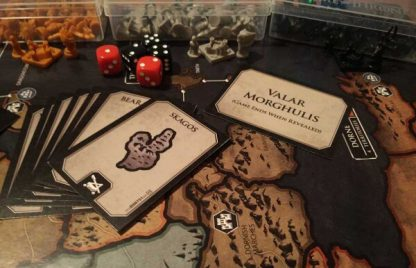 Afbeelding van een spelimpressie van het bordspel Risk Game of Thrones Collectors Edition