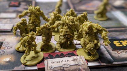 Spelimpressie van het bordspel Zombicide Green Horde