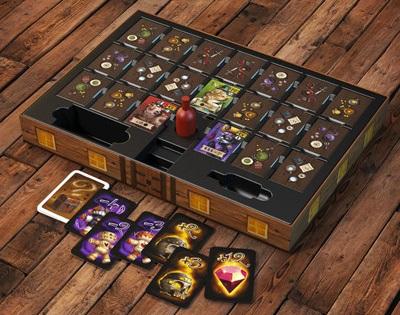 Spelonderdelen van het bordspel Jamaica: The Crew