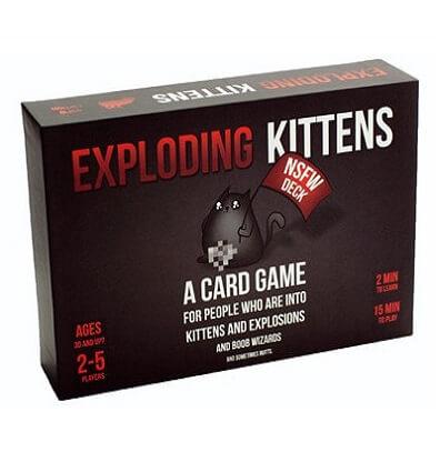 Productfoto van het bordspel Exploding Kittens NSFW