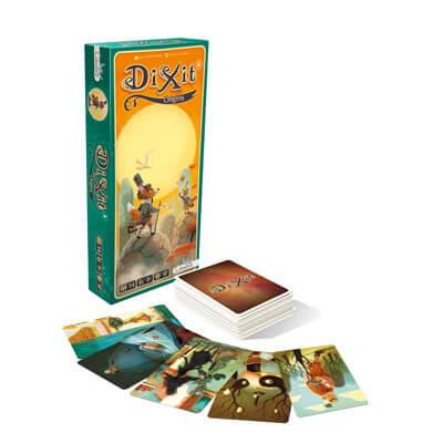Dixit Origins Uitbreiding Bordspel Doos en Speelkaarten