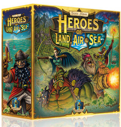Heroes of Land Air and Sea Bordspel Productfoto