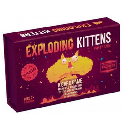 Productfoto van het bordspel Exploding Kittens Party Pack