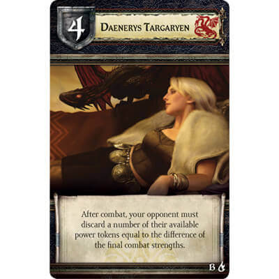 Speelkaart van het bordspel Game of Thrones Mother of Dragons