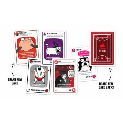 Speelkaarten van het bordspel Exploding Kittens Party Pack