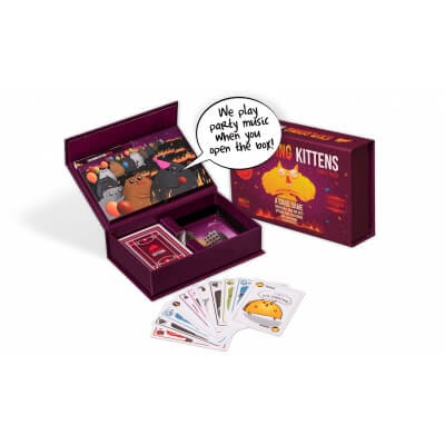 Spelonderdelen van het bordspel Exploding Kittens Party Pack