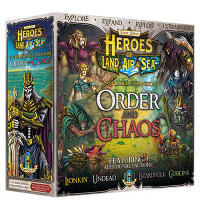 Heroes of Land Air and Sea - Order and Chaos Bordspel Productfoto