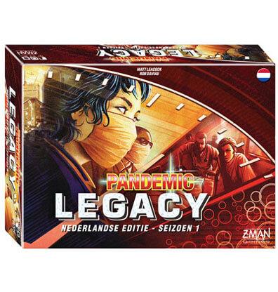 Pandemic Legacy Season 1 Red Nederlands Bordspel Productfoto