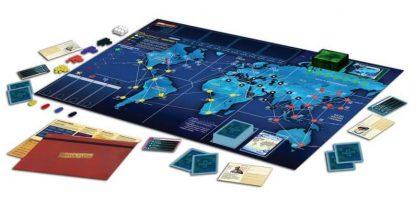 Spelonderdelen van het bordspel Pandemic Legacy Season 1 Red