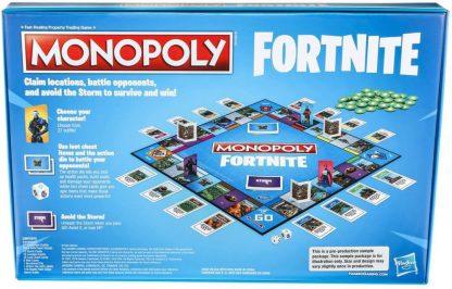 Monopoly Fortnite Bordspel Achterkant