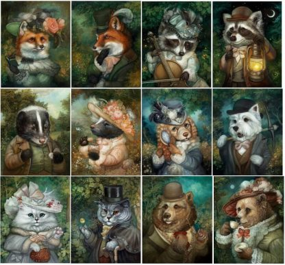 Raccoon Tycoon Bordspel Personages